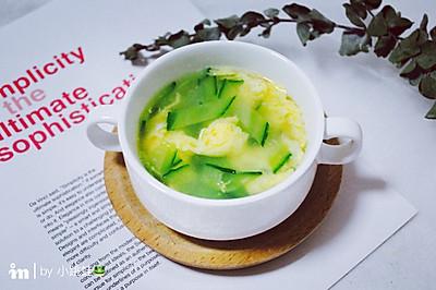 快手黄瓜蛋花汤