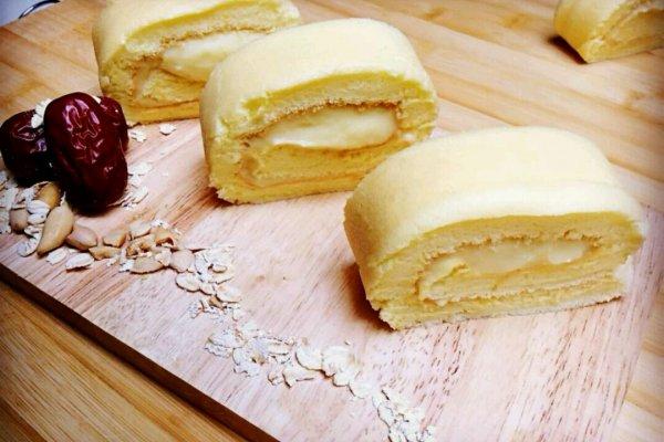 木糖醇卡仕达蛋糕卷的做法