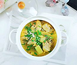#合理膳食 营养健康进家庭#清水煮鸡汤
