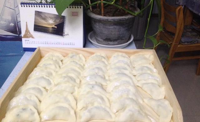 黄瓜鸡蛋虾仁饺子