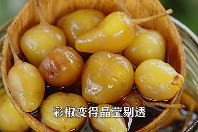 广西特产五彩泡椒,炒菜或凉拌菜都好吃!