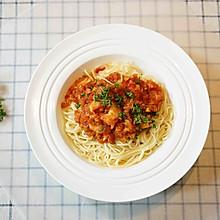 #520,美食撩动TA的心!#鲜虾番茄意大利面