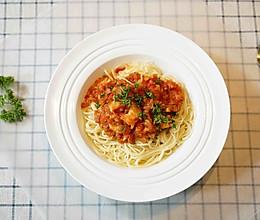 #520,美食撩动TA的心!#鲜虾番茄意大利面的做法