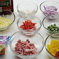 吐司批萨-5分钟搞定超简易的营养早餐的做法图解1