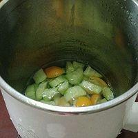 黄瓜雪梨金桔汁的做法图解2