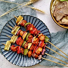 #一道菜表白豆果美食#韩式五彩鸡肉串
