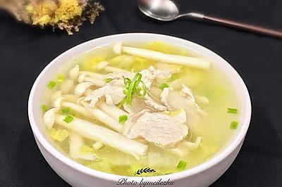 菌菇肉片白菜湯