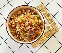 萝卜火腿蛋炒饭的做法