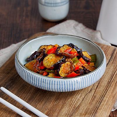 鱼香烤茄子,不油炸低脂更健康