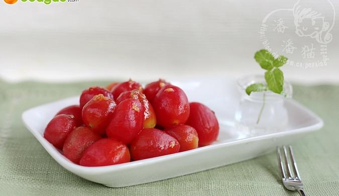 夏日里的小清新,开胃又解暑:冰镇蜂蜜圣女果