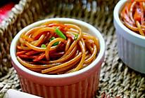 中西合璧的酱油炒意面的做法