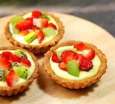 【微体兔菜谱】满满水果堆起来!缤纷水果塔