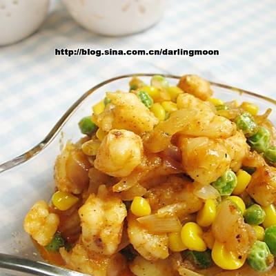 咖喱什锦虾仁