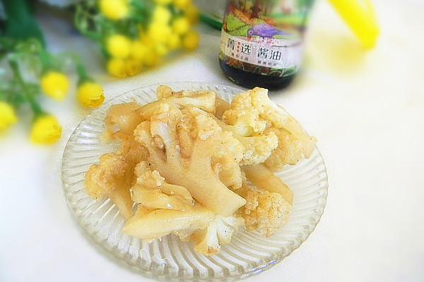 菁选酱油试用之——素炒菜花的做法