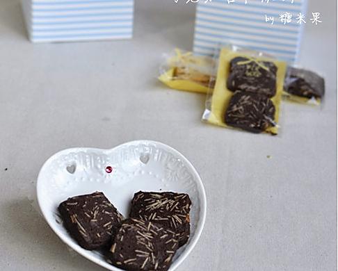 巧克力杏仁脆饼