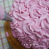粉紫色的恋人--红心火龙果奶油蛋糕的做法图解8