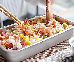 #精品菜谱挑战赛#带饭便当也有高颜值--周三一个番茄饭的做法
