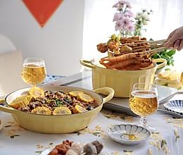 好友相聚宅家美食趴之牛油火锅加三汁焖鸡块的做法