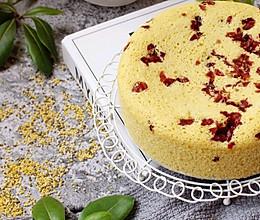 0失败的蔓越莓多色小米糕的做法
