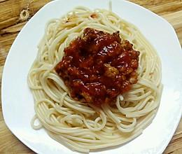 肉糜番茄酱意大利面的做法