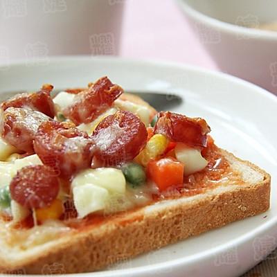 一日健康从早餐开始--吐司披萨