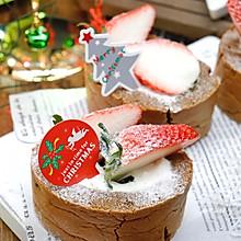 """#甜蜜暖冬,""""焙""""感幸福#可可草莓蛋糕卷"""