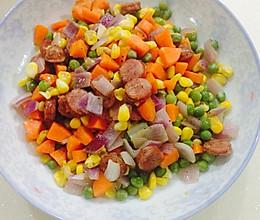 黑椒肠之蔬菜炒丁丁的做法