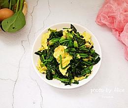 #网红美食我来做#菠菜炒鸡蛋的做法