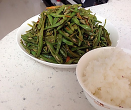 家常素炒豆角丝的做法