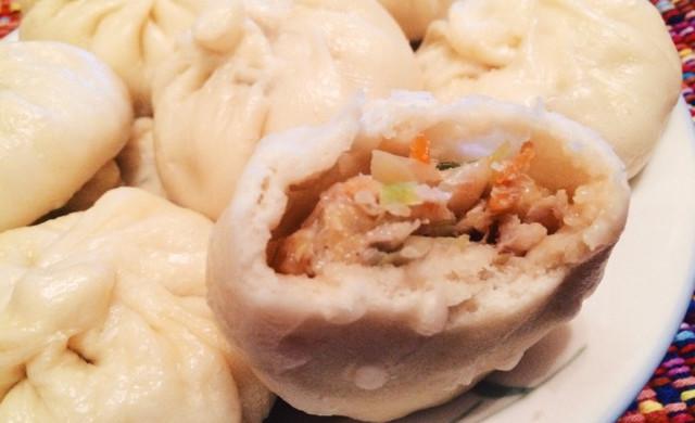 鲜美古早味  猪肉卷心菜干贝包子