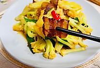#春日时令,美味尝鲜#腊肉炒花菜的做法