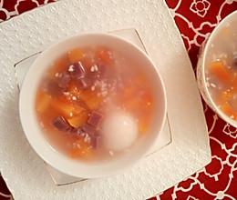 产后恢复/酒酿紫薯年糕木瓜羹的做法
