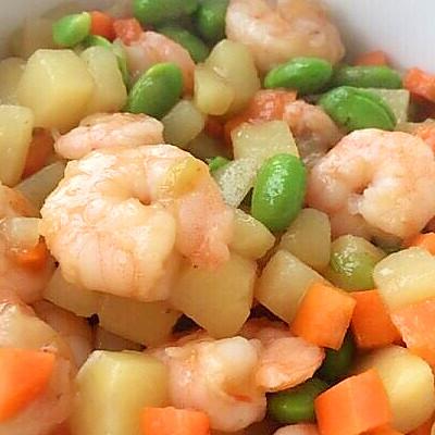 鲜美无比的虾仁炒三丁