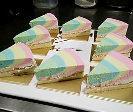彩虹芝士蛋糕。的做法