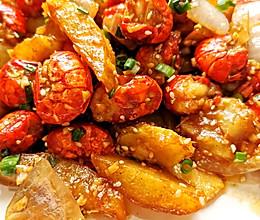蒜蓉土豆小龙虾尾的做法