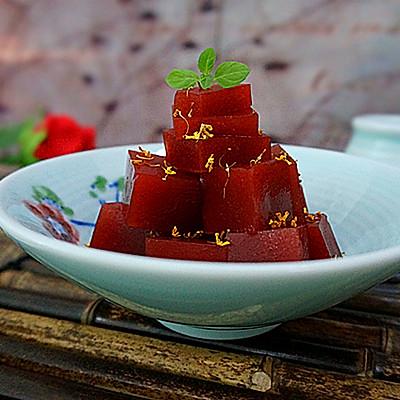 桂花山楂糕-----零添加健康甜点开胃必备