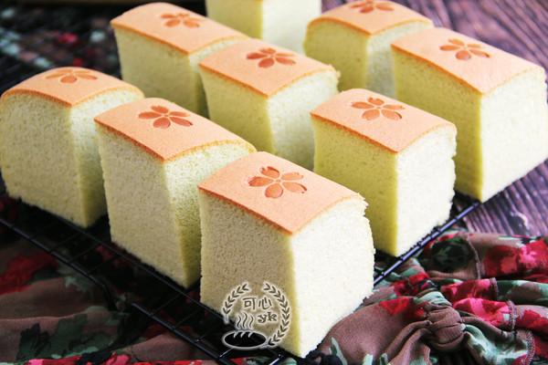 细腻柔软的大麦若叶日式棉花蛋糕