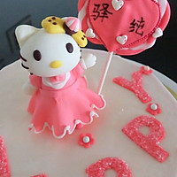 Kitty翻糖蛋糕(二)的做法图解10