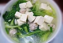白菜豆腐肉丸汤的做法