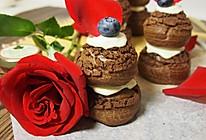 酥皮巧克力泡芙塔+#有颜值的实力派的做法
