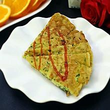 菠菜鸡蛋饼 #急速早餐#