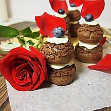 酥皮巧克力泡芙塔+#有颜值的实力派