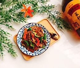 #寻味外婆乡#家常菜+青椒爆炒牛肉片的做法
