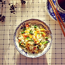 芦笋咸蛋炒饭#美的早安豆浆机#
