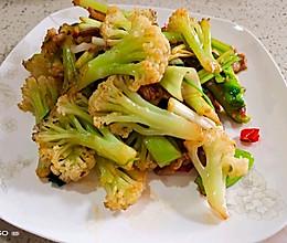 小炒有机菜花的做法