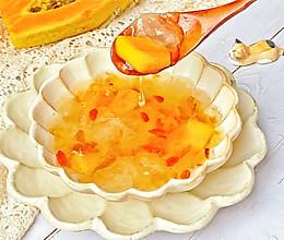 #换着花样吃早餐#木瓜桃胶银耳汤的做法