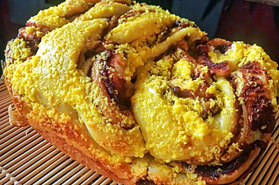 面包机版豆沙椰蓉面包