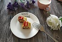 #换着花样吃早餐#煎香蕉土司卷的做法