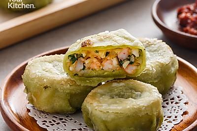 生煎韭菜粿