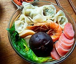 广式鲜虾馄饨面的做法